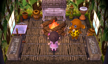 Interior of Tucker's house in Animal Crossing: New Leaf