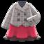 Peacoat-and-Skirt Combo