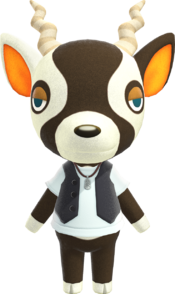 Zell, an Animal Crossing villager.