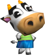 Artwork of Belle the Cow