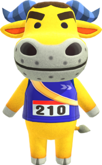 Coach, an Animal Crossing villager.