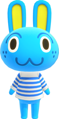 Hopkins, an Animal Crossing villager.