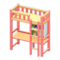 Loft Bed with Desk (Pink - Yellow) NH Icon.png