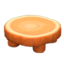 Log Round Table (Orange Wood - None)