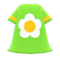 Flower-Print Dress (Green) NH Icon.png
