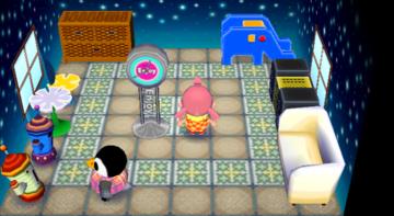 Interior of Aurora's house in Animal Crossing: City Folk