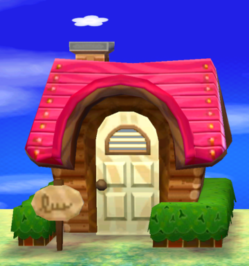 Exterior of Maddie's house in Animal Crossing: New Leaf