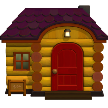 Exterior of Marty's house in Animal Crossing: New Horizons