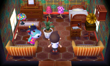 Interior of Naomi's house in Animal Crossing: New Leaf