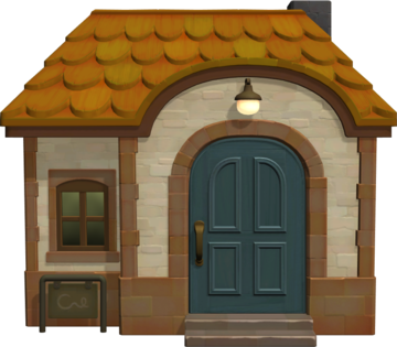 Exterior of Pashmina's house in Animal Crossing: New Horizons