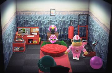 Interior of Rocket's house in Animal Crossing: New Horizons