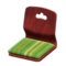Floor Seat (Dark Wood - Pale Grass Green) NH Icon.png
