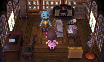 Interior of Beardo's house in Animal Crossing: New Leaf