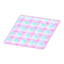 Peach Checked Rug