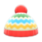 Colorful Striped Knit Cap (Red) NH Icon.png