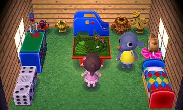 Interior of Dizzy's house in Animal Crossing: New Leaf