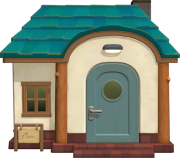 Exterior of Scoot's house in Animal Crossing: New Horizons