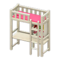 Loft Bed with Desk (White - Pink) NH Icon.png
