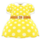 Belted Dotted Dress (Yellow) NH Icon.png