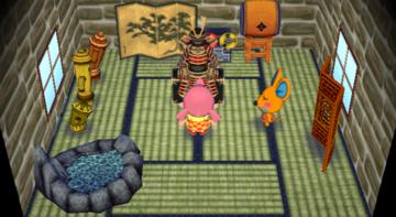 Interior of Limberg's house in Animal Crossing: City Folk