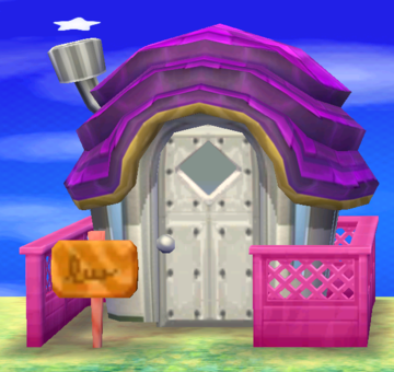 Exterior of Ruby's house in Animal Crossing: New Leaf