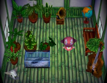 Interior of T-Bone's house in Animal Crossing