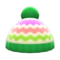 Colorful Striped Knit Cap (Green) NH Icon.png