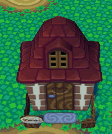 Exterior of Baabara's house in Animal Crossing