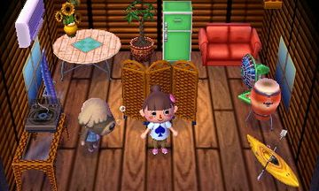 Interior of Shep's house in Animal Crossing: New Leaf