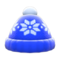 Snowy Knit Cap (Blue) NH Icon.png