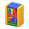 Wooden-Block Bookshelf (Colorful) NH Icon.png