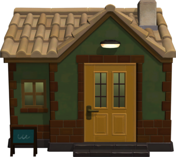Exterior of Hippeux's house in Animal Crossing: New Horizons