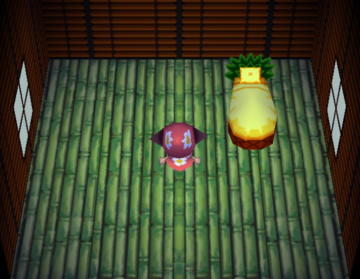 Interior of Maelle's house in Animal Crossing