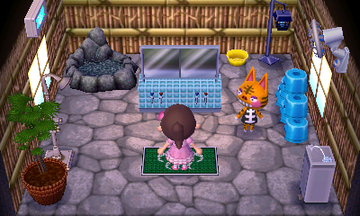 Interior of Tabby's house in Animal Crossing: New Leaf