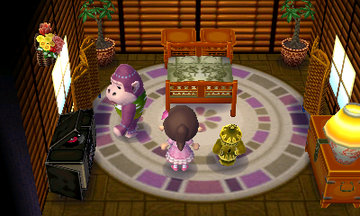 Interior of Violet's house in Animal Crossing: New Leaf