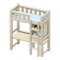 Loft Bed with Desk (White - Light Blue) NH Icon.png