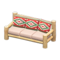 Log Extra-Long Sofa (White Wood - Southwestern Flair) NH Icon.png