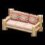 Log Extra-Long Sofa (White Wood - Southwestern Flair)