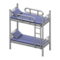 Bunk Bed (Silver - Striped) NH Icon.png