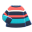 Colorful Striped Sweater (Navy, Light Blue & Pink) NH Icon.png