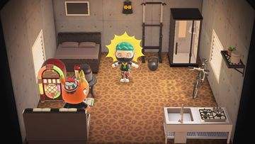 Interior of Spike's house in Animal Crossing: New Horizons