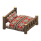 Log Bed (Dark Wood - Southwestern Flair) NH Icon.png