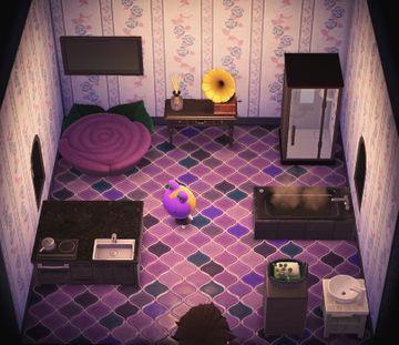 Interior of Gigi's house in Animal Crossing: New Horizons