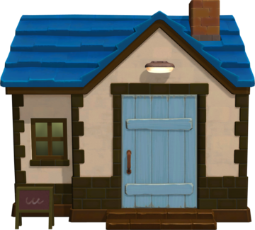 Exterior of Hugh's house in Animal Crossing: New Horizons