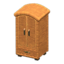 Rattan Wardrobe (Reddish Brown)