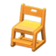 Writing Chair (Light Brown - Yellow)