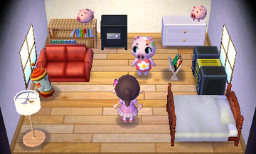 Interior of Gala's house in Animal Crossing: New Leaf