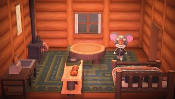 Interior of Gonzo's house in Animal Crossing: New Horizons