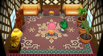 Interior of Jambette's house in Animal Crossing: City Folk