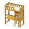 Loft Bed with Desk (Natural - White) NH Icon.png